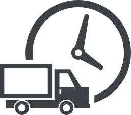 грузовой автомобиль на фоне часов